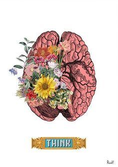 Human Brain THINK [PRRINT on Etsy]