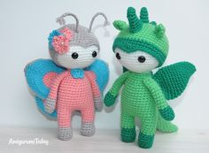 Amigurumi Doll Gratuit : Amigurumi doll in butterfly costume free crochet pattern