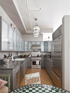 1000 images about great galley kitchens on pinterest for Best lighting for galley kitchen