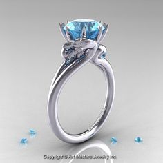 Art Masters 14K White Gold 3.0 Ct Aquamarine by DesignMasters  Find more like this on DragonClothing.net