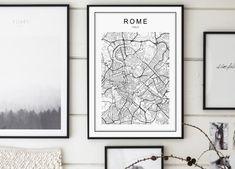 Rome Map Print Rome City Mappa Roma Italia by GalaDigitalPrints