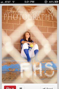 softball senior pic
