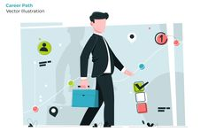 Career Path - Vector Illustration - EPS, AI Eps Vector, Vector File, Vector Graphics, Career Path, Graphic Illustration, Illustrations, Coreldraw, Presentation Templates, Adobe Illustrator