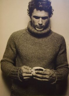 James Franco in a nice looking comfy sweater. sure, but these sweatersare never really comfortable.