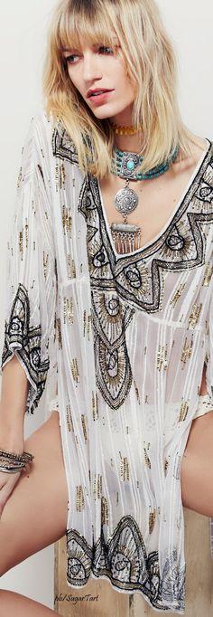 Free People Caftan   ≫∙∙☮ Bohème Babe ☮∙∙≪• ❤️ by Babz™ ✿ιиѕριяαтισи❀ #abbigliamento #bohojewelry #boho