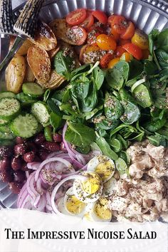 The salad nicoise is all about primarily all fresh ingredients from the market. Add to them some seasonings and your palate will be perfectly delighted. #easysalad #nicoisesalad Good Healthy Recipes, Delicious Recipes, Easy Recipes, Dinner Recipes, Different Salads, Nicoise Salad, Easy Salads, Quick Easy Meals, Family Meals