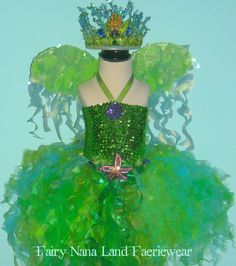 starfish costumes   Fairy Costume SEA FAERIE girls sz 8 12 MERMAID by FairyNanaLand