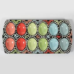 Sharing this cute ceramic deviled egg plate