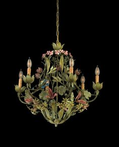 Savoy House 1 1017 6 306 Primavera Whimsical Tropical Safari 6 Light Up Lighting Chandelier from the Whimsical Collection 1 1017 6