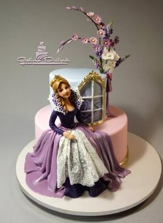 Bolo Barbie, Barbie Cake, Girly Cakes, Fancy Cakes, Beautiful Birthday Cakes, Beautiful Cakes, Pretty Cakes, Cute Cakes, Super Torte