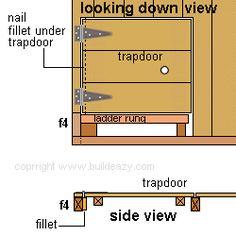How to build a Kid's Play Fort Hidden Passages, Under Deck Storage, Castle Playhouse, Kids Clubhouse, Play Fort, Hatch Door, Basement Doors, Trap Door, Terrains