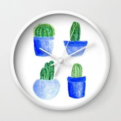 A personal favorite from my Etsy shop https://www.etsy.com/listing/477761648/cactus-wall-clock-modern-wall-clock