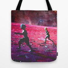 RUN on MARS Tote Bag by ARTito - $22.00