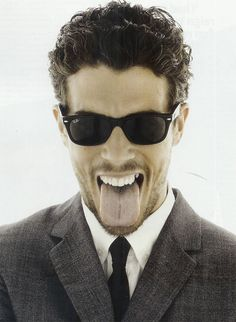 What girl wouldn't want that tongue?? Toby Kebbell