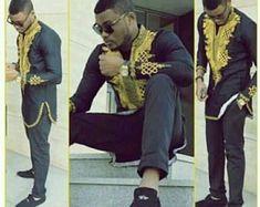 African men clothing, adshiki, dashiki shirt, African shirt, groom's suit, wedding suit, African men suit, prom #AfricanFashion