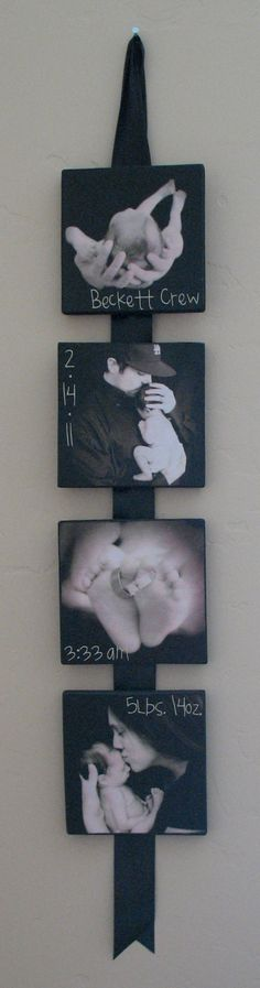 Cute way to put baby pictures!