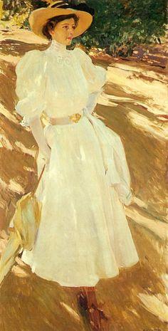 Joaquín Sorolla - María en los jardines de La Granja