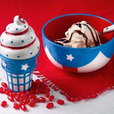 4th of july ice box cake