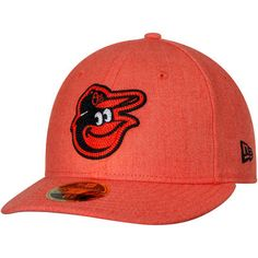 5decad6f2fee4 Men s New Era Heathered Orange Baltimore Orioles Crisp Low Profile 59FIFTY  Fitted Hat
