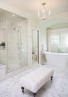 Luxury Bathrooms In Dubai Elegant Bathroom Waterfall Glass Basin Tap #luxurybathroomensembles