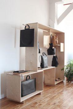 Cool merchandising fixture! Building Block + Waka Waka