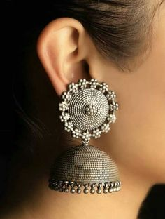 Buy Silver Jewelry at best price. Shop silver jewlery necklace, silver earrings, bracelets, bangles and much more from our exquisite collection of handcrafted silver jewelry Indian Jewelry Earrings, Indian Jewelry Sets, Fancy Jewellery, Jewelry Design Earrings, Silver Jewellery Indian, Stylish Jewelry, Tribal Jewelry, Pendant Jewelry, Silver Jewelry