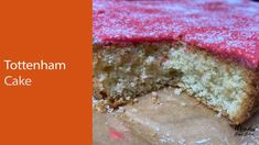 Tottenham Cake Recipe : Coconut and raspberry tray bake : Old fashioned school cakes : Tray Bake Tottenham Cake, School Cake, Baking Videos, Cake Decorating Videos, Video Tutorials, Tray Bakes, Cake Recipes, Raspberry, Bakery