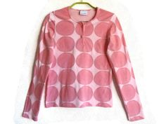 MARIMEKKO Light Pink Circle Shirt Long Sleeves Top Pink Top Cotton Top Marimekko…