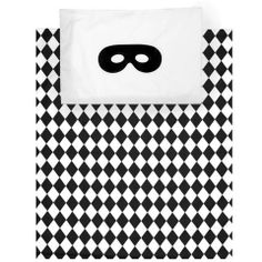 Mini & Beau - Beau Loves Harlequin Quillt and Pillowcase Set | Shop Mini & Beau cool clothing, toys and accessories for boys!