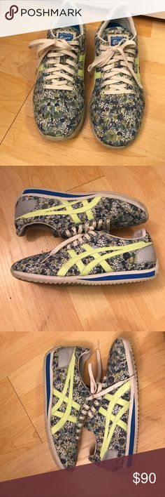 Sale🌟 Asics Tiger x Liberty London Sneakers 8 Nearly new. Worn once. Size W8. No signs of wear, scuffs or creasing. Limited edition and hard to find! Onitsuka Tiger by Asics Shoes Sneakers