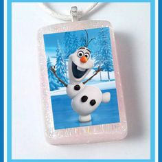 Great for party favors! Olaf Frozen Charmer Necklace from Peanut Butter n Jewels for $5 on Square Market facebook.com/pbnjewels instagram.com/pbnjewels twitter.com/pbnjewels