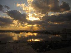Sunset over the Mediteranean Sea from Benghazi, Libya