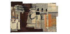 Matthew Harris : Factory. Cartoons for cloth. | mixed media on paper, bound with wax thread.