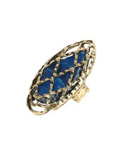 arden b, caged stone ring.