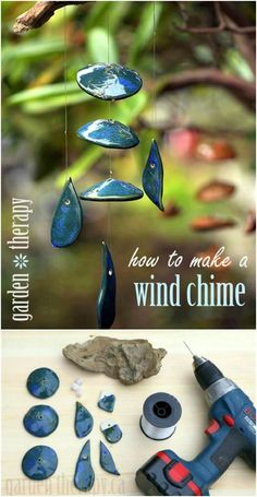 Crafts Wind Chimes 40 Relaxing Wind Chime Ideas To Fill Your Outdoors With Beautiful Sounds - DIY & Crafts Bamboo Wind Chimes, Wind Chimes Craft, Clay Pot Crafts, Shell Crafts, Garden Crafts, Garden Art, Garden Projects, Garden Ideas, Diy Projects