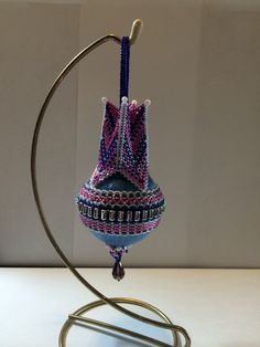 Beaded ornament from Mikki Ferrugiaro's Pagoda tutorial