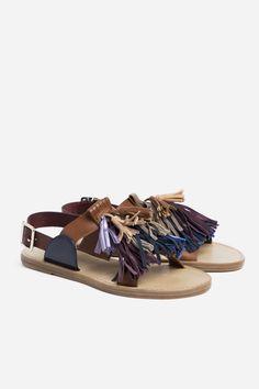 Clay Pom Pom Sandal - Natural