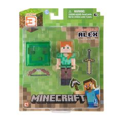 Core Steve with Accessory. From the hit video game, Minecraft, bring home the inches tall Steve action figure pack! Collect all Series Minecraft action Minecraft Videos, Minecraft Toys, Cool Minecraft, Minecraft Party, Minecraft Blocks, Minecraft Crafts, The Animals, Minecraft Action Figures, Disney Pixar
