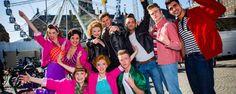 Slotscène Grease nagespeeld op de kermis op de Dam in Amsterdam