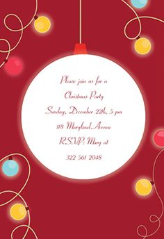 Holiday impressions free printable christmas invitation template christmas light printable invitation customize add text and photos print for stopboris Image collections