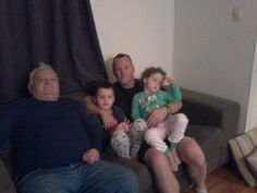 Chris, grandad and kids
