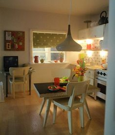 Polly Line's new Lundby kitchen 7, view from the living room by pubdoll, via Flickr