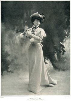 Geneviève Lantelme in Jeanne Paquin Dress, in Les Modes, 1902
