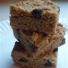 "Easy Peanut Butter Bars | ""Great! Moist! Thick and chewy! Loved these!"" (Bake Quotes Peanut Butter)"