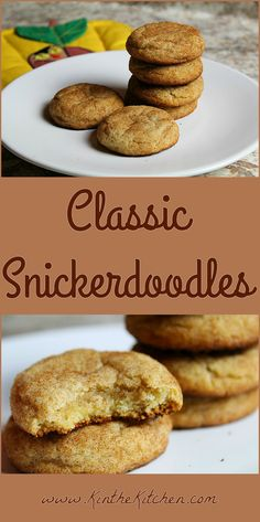 Soft and chewy Classic Snickerdoodles – no chill time required!