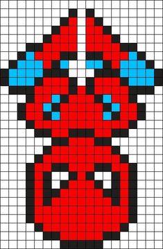 Spiderman Perler Bead Pattern / Bead Sprite - visit to grab an unforgettable cool Super Hero T-Shirt! Pearler Bead Patterns, Perler Patterns, Weaving Patterns, Perler Bead Art, Perler Beads, Crochet Pixel, Pixel Crochet Blanket, Bead Crochet, Crochet Crafts