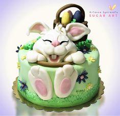 Torta coniglietto di Pasqua - Arianna Sperandio Sugar Art