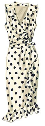 Navy blue polka dots for Spring celebrations; here I come.