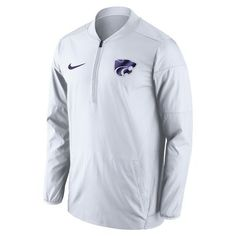 Nike™ Men's Kansas State University Lockdown 1/2 Zip Jacket (White, Size Medium) - NCAA Licensed Product, NCAA Men's Fleece/Jackets at Academy Sports