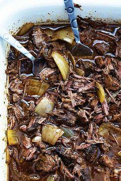 Slow Cooker Barbacoa Beef   Creme De La Crumb Stew Meat Recipes, Pork Chop Recipes, Slow Cooker Recipes, Cooking Recipes, Crockpot Recipes, Chipotle Recipes, Entree Recipes, Authentic Mexican Recipes, Mexican Food Recipes